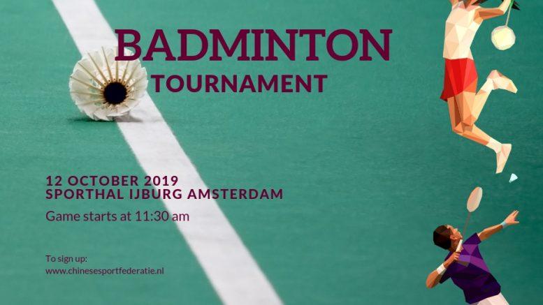 Oktober Sportmaand Badmintontoernooi 2019